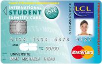 Carte bancaire LCL etudiant ISIC