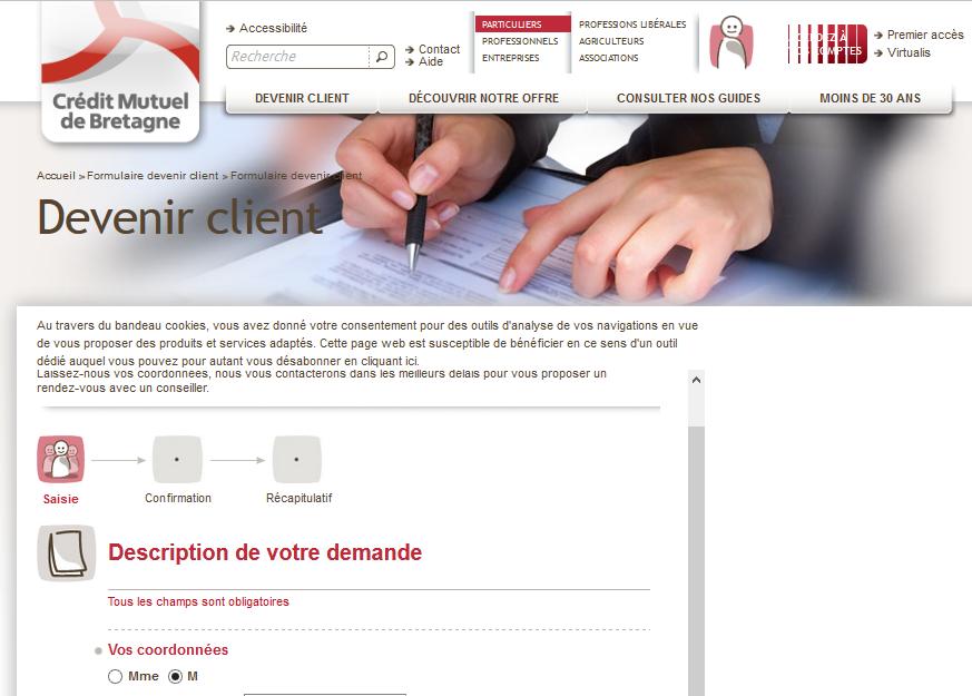 devenir client en ligne cmb.fr