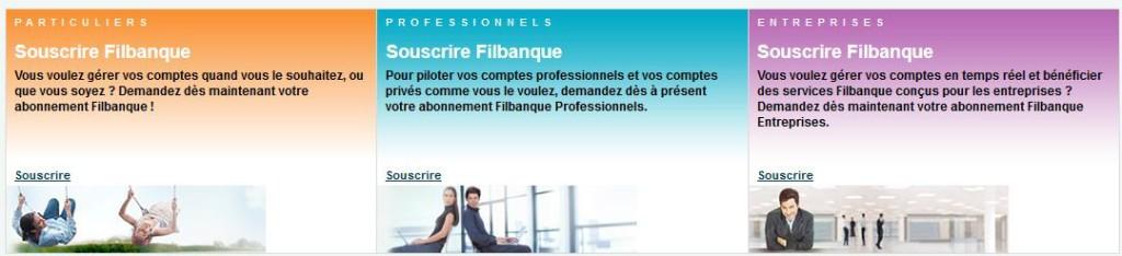 Filbanque est disponible pour particuliers, entreprises et professionnels