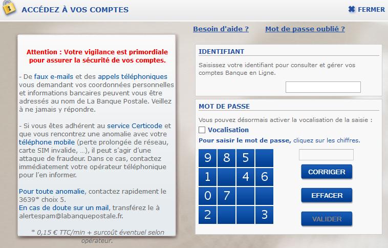 accès au compte ccp banque postale