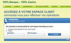 banque casino espace client