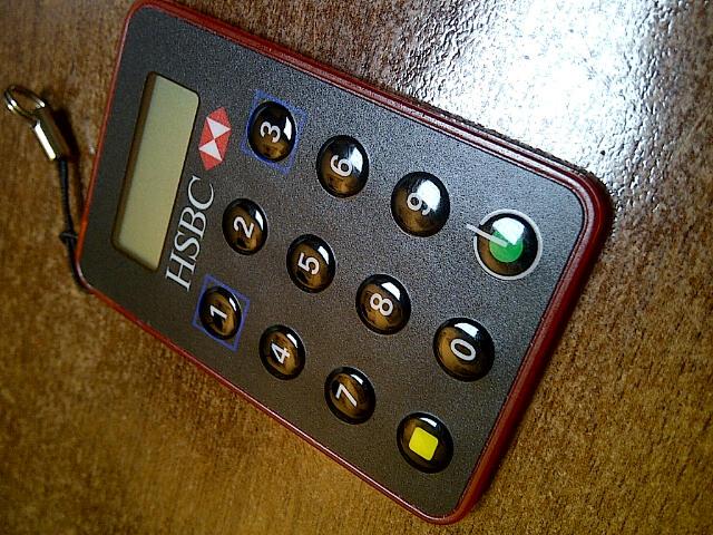 HSBC secure key connexion compte