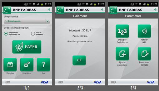 paiement avec t l phone mobile kix de bnp paribas. Black Bedroom Furniture Sets. Home Design Ideas