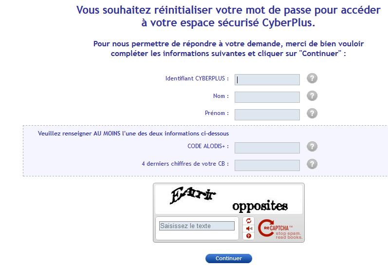 réinitialisation mot de passe banque populaire des Alpes