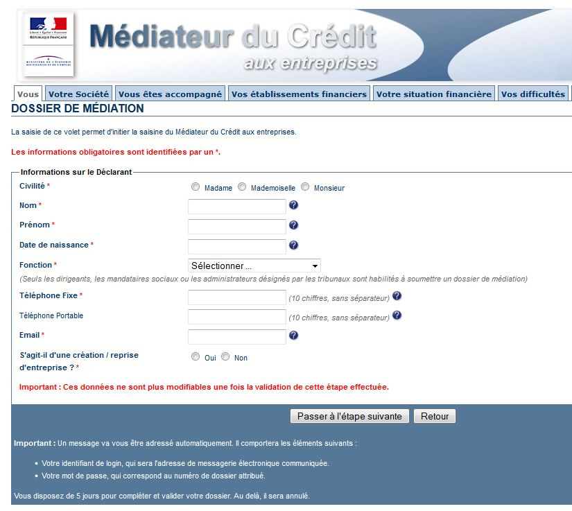mediateur du credit