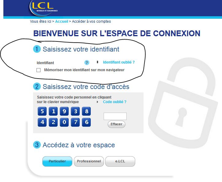 problèmes de connexion à mon compte LCL
