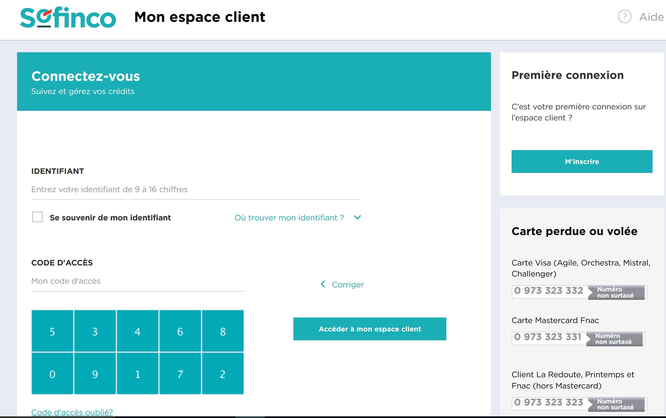 Comment se connecter à mon compte sofinco sur la page www.client.sofinco.fr?